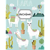 """Sketchbook: Lama Blank Drawing Book For Girls & Boys 