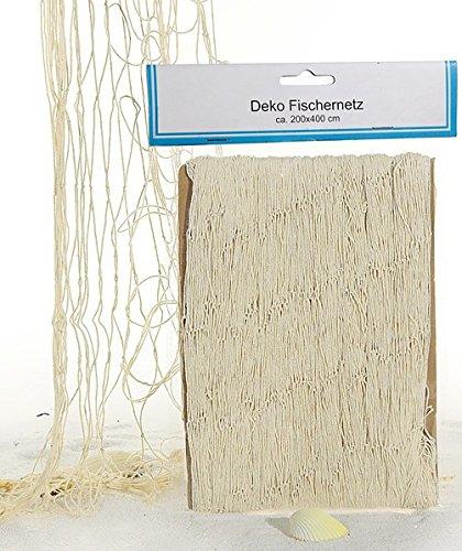 Deko Fischernetz für maritime Deko 200 x 400 cm