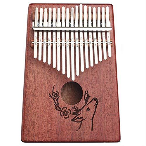 Xjwq Daumen Klavier Kalimba Daumen Klavier W-17 T 17 Tasten Aufrecht Körper Mahagoni Holz Hochwertige Finger Klavier Musikinstrument Für Anfänger Geschenke C-1