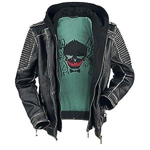 Suicide Squad The Joker Lederjacke, Schwarz