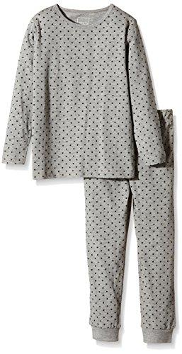 NAME IT Baby-Mädchen Zweiteiliger Schlafanzug NITNIGHTSET K G NOOS, Gr. 122, Mehrfarbig (Grey Melange)