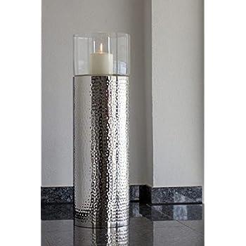 Pureday Bodenwindlicht Style Glas Aluminium Silber Gross
