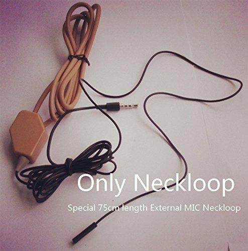 62b10d269eb EDIMAEG High Quality covert wireless spy Earpiece With Loopset Neckloop 75  cm External MIC GSM Earphone