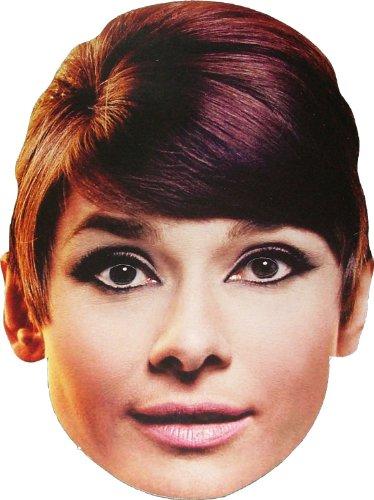 Hollywood Star - Audrey Hepburn - Card Face Mask (Hollywood Movie Maske)