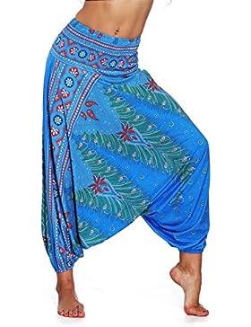 SEEU Harem - Pantalón para Mujer, diseño Bohemio, Hippie
