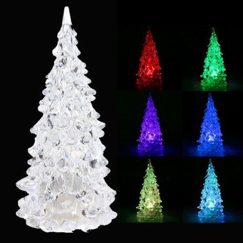 Árbol Navidad Navidad Crystal LED 7 Colores Cambiantes