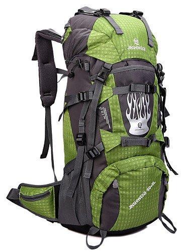 GXS Professional Outdoor Sport Reiten Camping wasserabweisend Multifunktions Schultern Bergsteigen Taschen 55L + 5L rot - rot