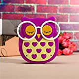 Ascension ® Owl LED Plug In Night Light For Kids- Wall Lamp Take Good Care Children Sleep Light Sensor Auto Controlled Nightlights For Baby Nursing Kids Favourite Birthday & Party Return Gifts (Purple)
