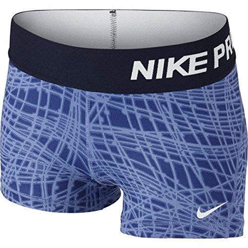 Nike Mädchen Oberbekleidung Pro Cool Allover Print 1 3 Zoll Shorts, blau, L, 727966-486 (8 Lange Ärmel Jugend)