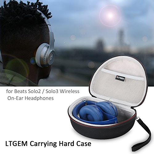 LTGEM EVA Hard Case Travel Carrying Pouch Cover Storage Bag für Beats by Dr. Dre Solo2/Solo3 Wireless On-Ear Kopfhörer Headphones - 7