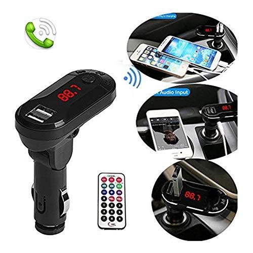 TianranRT Drahtlos FM Sender MP3 Player Freisprecheinrichtung Auto Kit USB TF SD Fernbedienung (Schwarz) - Ipod Shuffle Fm Transmitter