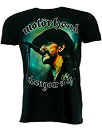 Motorhead Clean Your Clock Colour Black T-shirt Official Licensed Music
