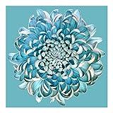 Bilderwelten Fotomural - Crisantemo Azul - Mural cuadrado papel pintado fotomurales...