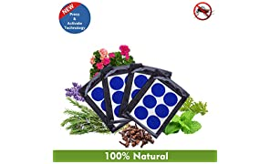 Safe-O-Kid Baby Mosquito Repellent Patches (Pack of 48) with Free 6 Patches (Blue)