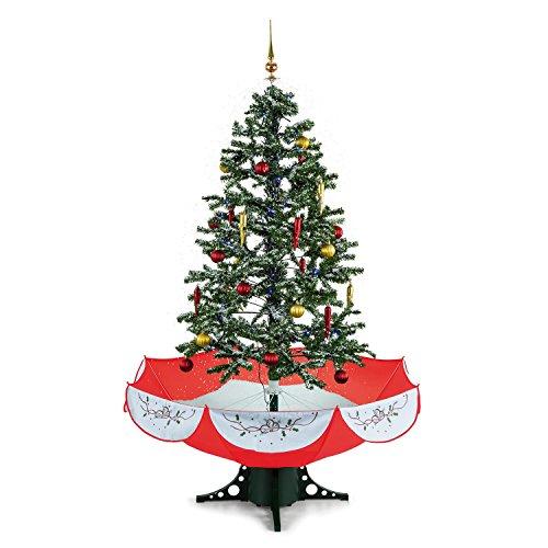 Oneconcept everwhite • albero di natale artificiale • albero di natale • simulazione di neve • altezza 180 cm • 30 pezzi di decorazione • filo di luci leggera • illuminazione a led blu • musica regolabile integrata • flusso d'aria regolabile • verde