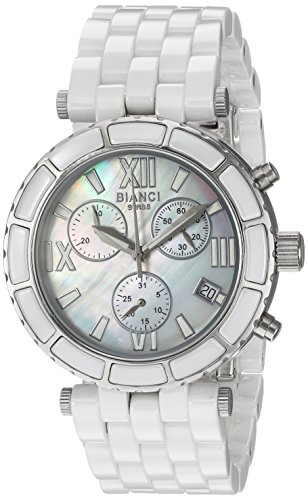 ROBERTO BIANCI WATCHES Women's 'Galeria' Quartz Stainless Steel and Ceramic Casual Watch, Color:White (Model: RB26802)