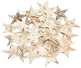 NaDeco Birkenrinden Sterne groß ca. 9,5cm 35 Stk. | Große Birkensterne | Birken Sterne groß | Große Dekosterne | Holzsterne groß | Große Sterne aus Birkenrinde | Weihnachtssterne | Streudeko | Weihnachtsdeko