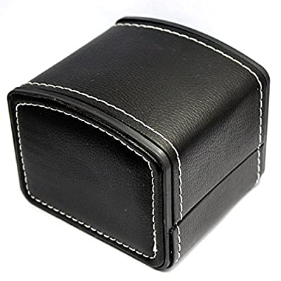 Chytaii Watch Box with Cushion Watch Bracelet Necklace Jewelry Holder Storage Case Gift Presentation Box PU Leather - inexpensive UK light store.