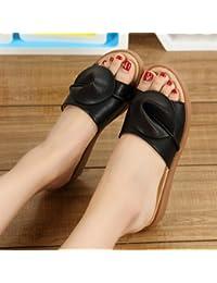 fankou Flacher Boden Coole Sommer Sandalen Mode Sandalen weibliche stilvolle outdoor coole Hausschuhe 41 Weiß