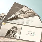 Hochzeitseinladungen online, Unser Herz 200 Karten, Kartenfächer 210x80 inkl. weißer Umschläge, Orange