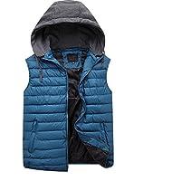 GXS Hombres tallas grandes chaleco en otoño e invierno. Algodón grueso abajo chaleco. La adición de fertilizantes para aumentar el chaleco de algodón. Suelta chalecos chaquetas de hombres , blue , 5xl