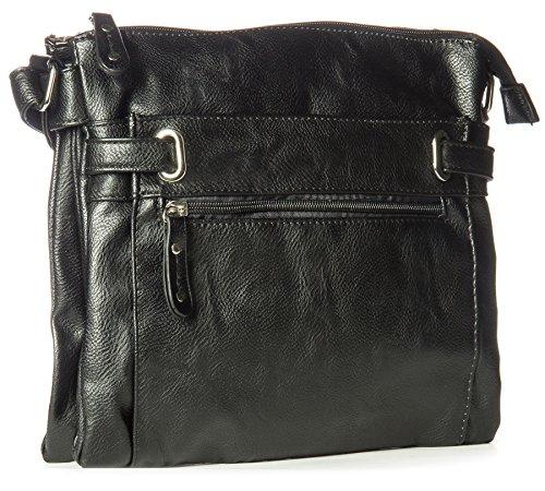 big-handbag-shop-womens-multi-pocket-medium-messenger-shoulder-bag-829-black
