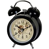 Alarm Clock Black With Quality Vintage Look For Home Décor Bedroom Desk Clock