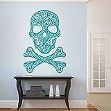 """Vinilo de pared etiqueta escombrera woooowltd fretboardhfs gráfico de pared decoración de la pared decoración del hogar, vinilo, verde azulado, 40""""hx60""""w"""