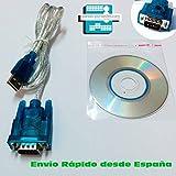 Adaptador de USB a RS232 Puerto Serie compatible con Fonestar RDTS-680 RS
