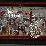 Noël Nouvel an nouvelle année décorations étoiles flocons de Noël arbre autocollants double-face portes en verre et fenêtres autocollants électrostatique