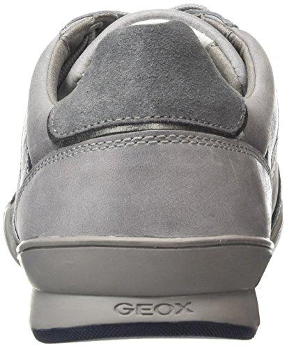 Geox U Kristof A, Baskets Basses Homme Gris (Stone/Dk Greyc9031)