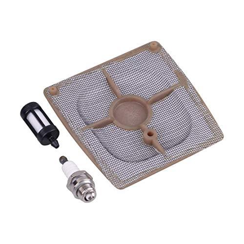 AiCheaX Tools - Vergaser Luft Kraftstoff mit Leitungsfilter Zündkerzensatz 1110-120-1601 Passend für STIHL 041 Farm Boss Gas Carb Kettensäge
