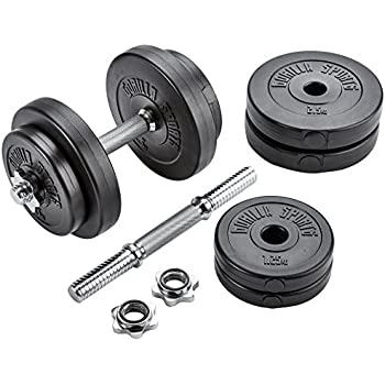 Gorilla Sports - Mancuerna de 20kg ajustable