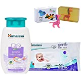 Himalaya Herbals Gentle Baby Shampoo (200ml)+Himalaya Herbals Gentle Baby Wipes (72 Sheets) With Happy Baby Luxurious Kids Soap With Toy (100gm)