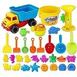BOROK 31St. Kinder Strandspielzeug Set Badespielzeug Sandspielzeug Sand Bagger Wasserspielzeug Kleinkinder Spielzeug für Badeurlaub