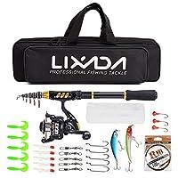 Lixada Fishing Rod Reel Combo Travel Fishing Accessories Kit