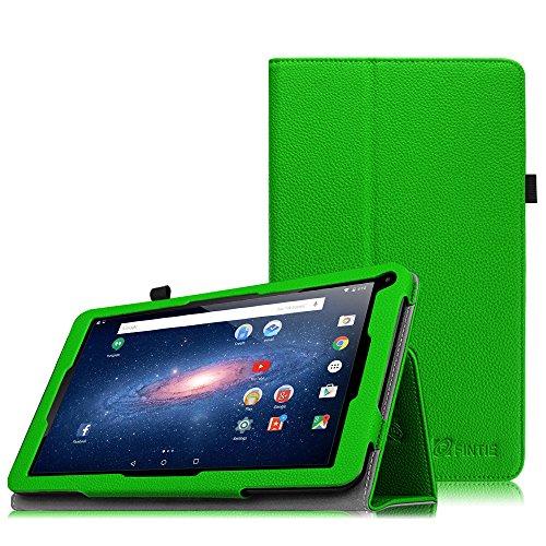 Fintie TrekStor SurfTab breeze 10.1 Quad Hülle Case - Slim Fit Folio Kunstleder Schutzhülle Cover Tasche mit Ständerfunktion für TrekStor SurfTab breeze 10.1 quad (10.1 Zoll (25,7 cm) Android-Tablet, Grün