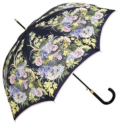 Guy De Jean Designer Umbrella with Flower Pattern Sea Automatic Umbrella - Elegant Umbrella - Luxury Design - Made in Paris