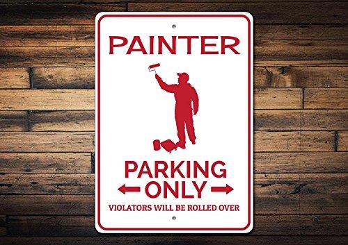 Dozili Parkschild Malerschild Maler, Geschenk für Maler, Dekoration, Künstler, Geschenk, Künstler, Wanddekoration, aus hochwertigem Aluminium, 20,3 x 30,5 cm