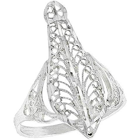Revoni-Catenina con pendente in argento Sterling a forma di pera, di lavoro (Telkari)-Anello in filigrana, (1 2,54 cm, 25 mm di larghezza