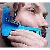 MARGUERAS 1pcs pettine per barba, set di attrezzi per modellare per linee e simmetria perfetta immagine
