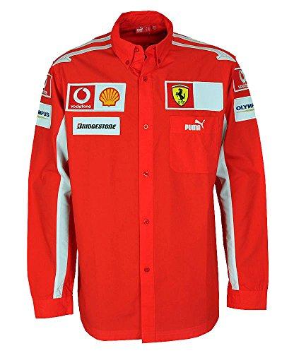 PUMA Scuderia Ferrari Rennfahrer Langarm Hemd 600788-01