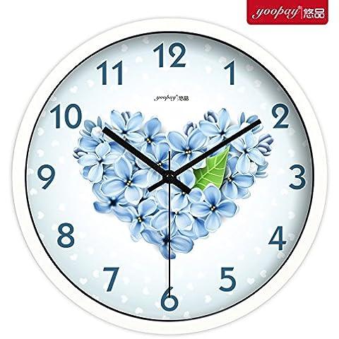 XB.T Halloween, Navidad presenta elegantes y sencillas Salón silenciar ideas de decoración del hogar relojes de cuarzo Reloj de pared U233,12 dormitorio en el recuadro