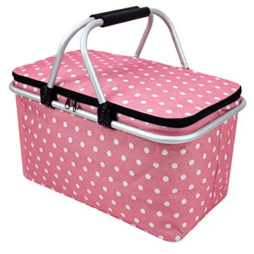 Dexinx Wasserdicht Robust Picknick-Box Staubdicht Lunchbox Geschlossen Weich Tasche Pink 48*28*24cm