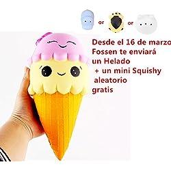 Fossen Kawaii Squishy Helado Jumbo Squishies Slow Rising Squeeze Toy (Amarillo)