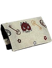 TABAQUERA Plan B Modelo TheOne Búho-Corazón Funda para tabaco de liar de diseño romántico con compartimentos para boquillas, papel y picadura /The One Búho