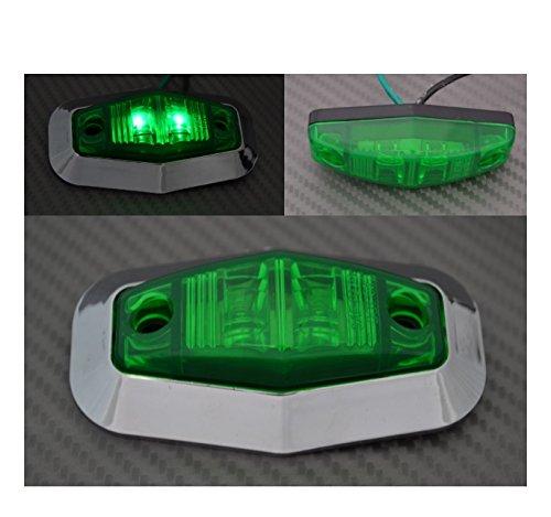 IVATECH 2 x 12 V Feux de gabarit LED Vert Contour de Phare chromé Camion REMORQUE Caravane