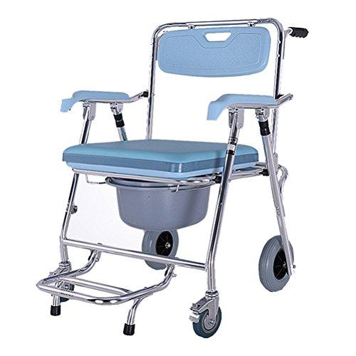 Sedia da toilette per anziani poltrona per toilette per adulti con sedile e schienale per doccia per disabili