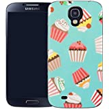 coque housse etui case cover samsung galaxy s4 i9500 - blue cupcake