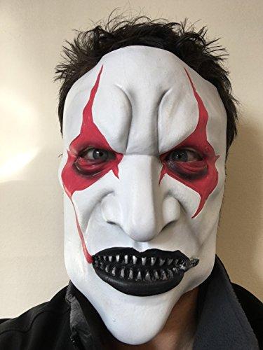 Slipknot Latex Maske Jim Root Pantomime Vorderseite Schwer Metall Gummiband Film FX Qualität Kostüm Maskerade